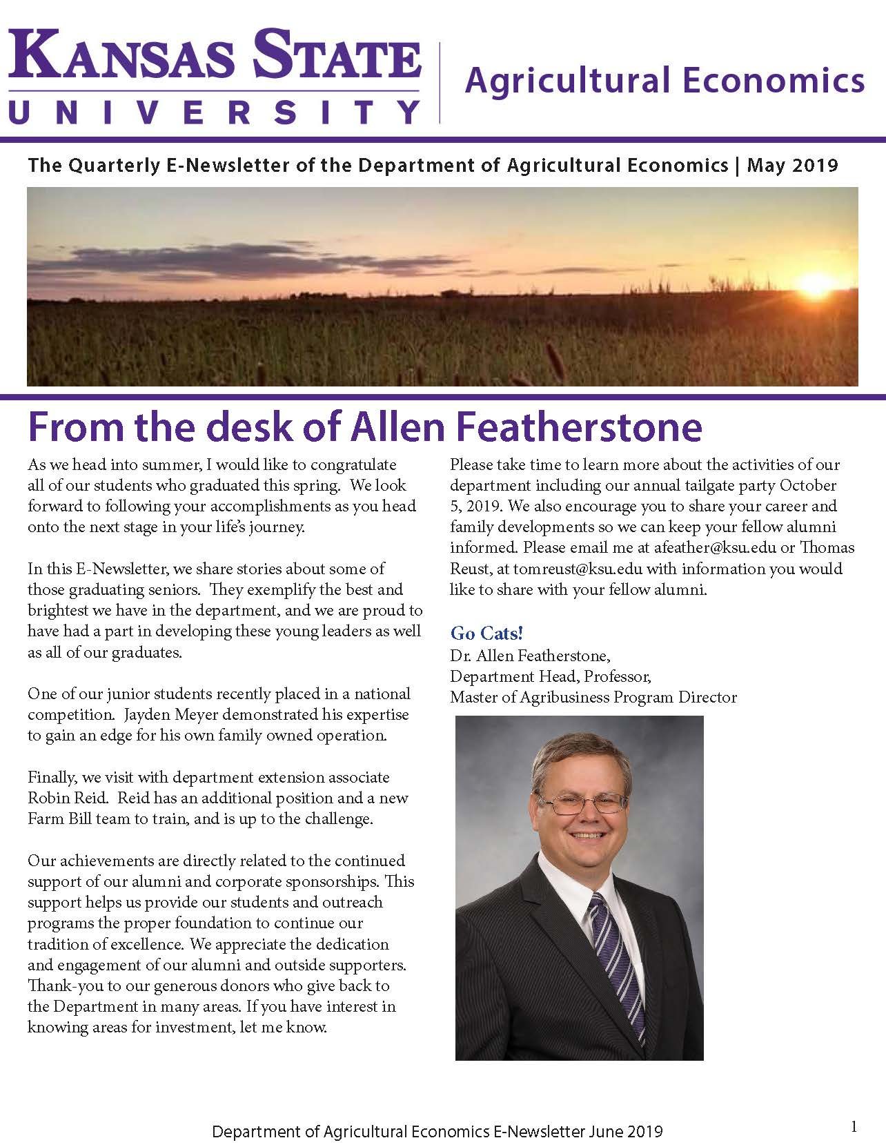 Newsletters | K-State Agricultural Economics